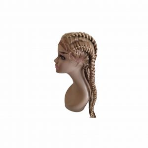 Perruques 4 Braids Lace Front Wigs Human Hair Couleur blonde